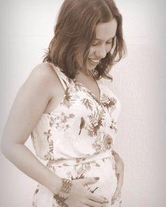 Com 15 semanas de gravidez. Foto: Luciana Carneiro