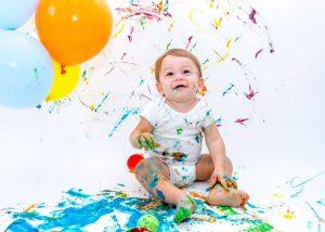 Gustavo, aos 11 meses, fotografado por Sheila Frias