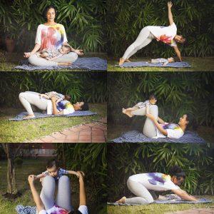 Juntos até na hora da yoga. Foto: Vanessa Maia
